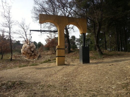 One of three <em>Portals</em> by the Brazilian artist Tunga at Château La Coste winery