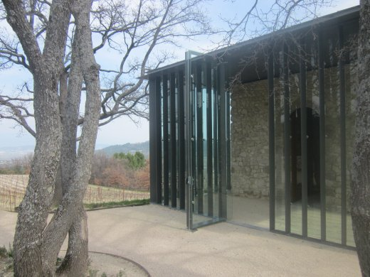 Tadao Ando's hilltop chapel at Château La Coste winery
