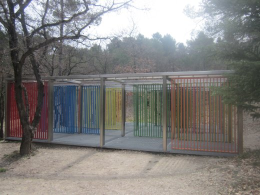 <em>Multiplied Resistance Screened</em> by Liam Gillick at Château La Coste winery