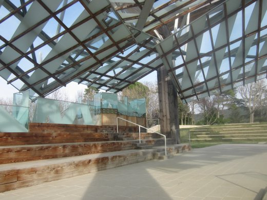 Frank Gehry's Music Pavilion, originally designed for the Serpentine in London, now at Château La Coste winery