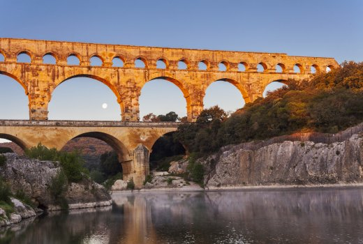 The Pont du Gard at moonrise