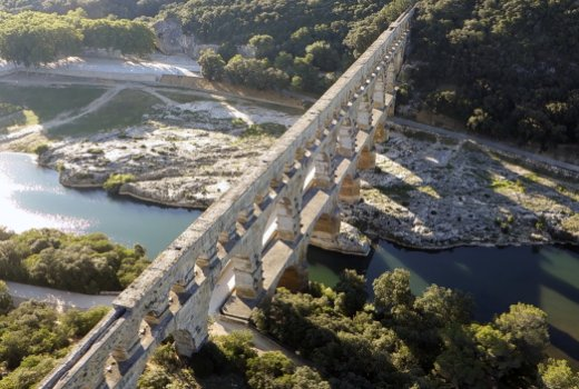 The Pont du Gard viewed from the air