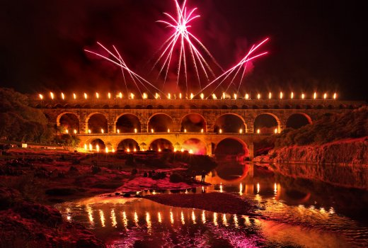 Fireworks at the Pont du Gard
