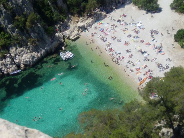 The beach at the calanque d'En Vau, near Cassis