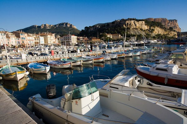 Cassis port and Cap Canaille