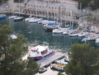 Calanque of Port Miou, Cassis, former quarry loading stage