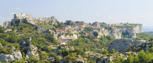 Les Baux de Provence, viewed across the Valley of Hell