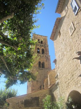 Bell-tower in Moustiers Sainte Marie