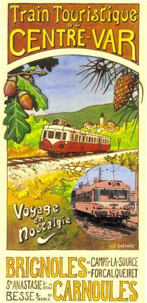 Vintage poster for the Tourist Train of Central Var