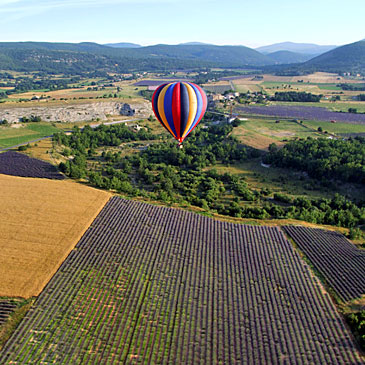 Hot-air ballooning in Provence