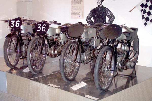 Nougier racing bikes at the Motorcycle Museum, Marseille