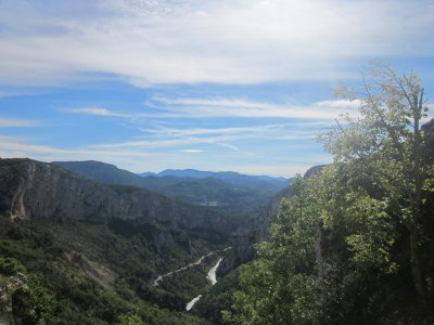View of the Gorges du Verdon from Rougon