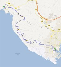 Route des Cretes small map