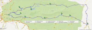 Map of the route around Sainte Victoire