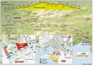 Route for the Marseille-Cassis running race