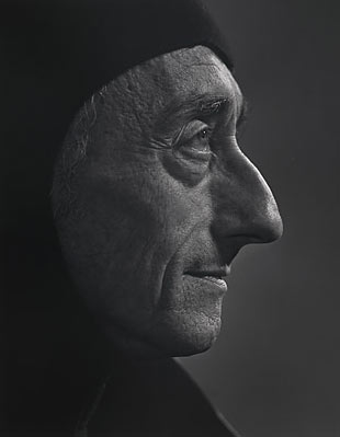 Jacques Cousteau photographed by Yousuf Karsh in 1972
