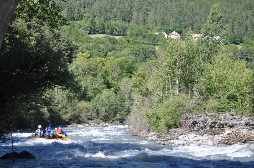 White water rafting down the Ubaye River, Provence