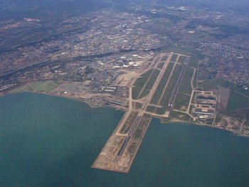 Aerial view of Marseille-Provence airport, Marignane