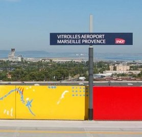 Vitrolles train station and Marseille-Provence airport