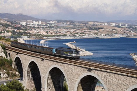 The Blue Coast train line outside Marseille