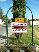 Bi-lingual French-Provencal road sign