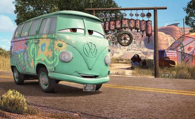 Fillmore the VW van in the Pixar film Cars