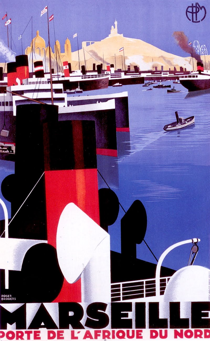 Poster for the port of Marseille by Roger Broder