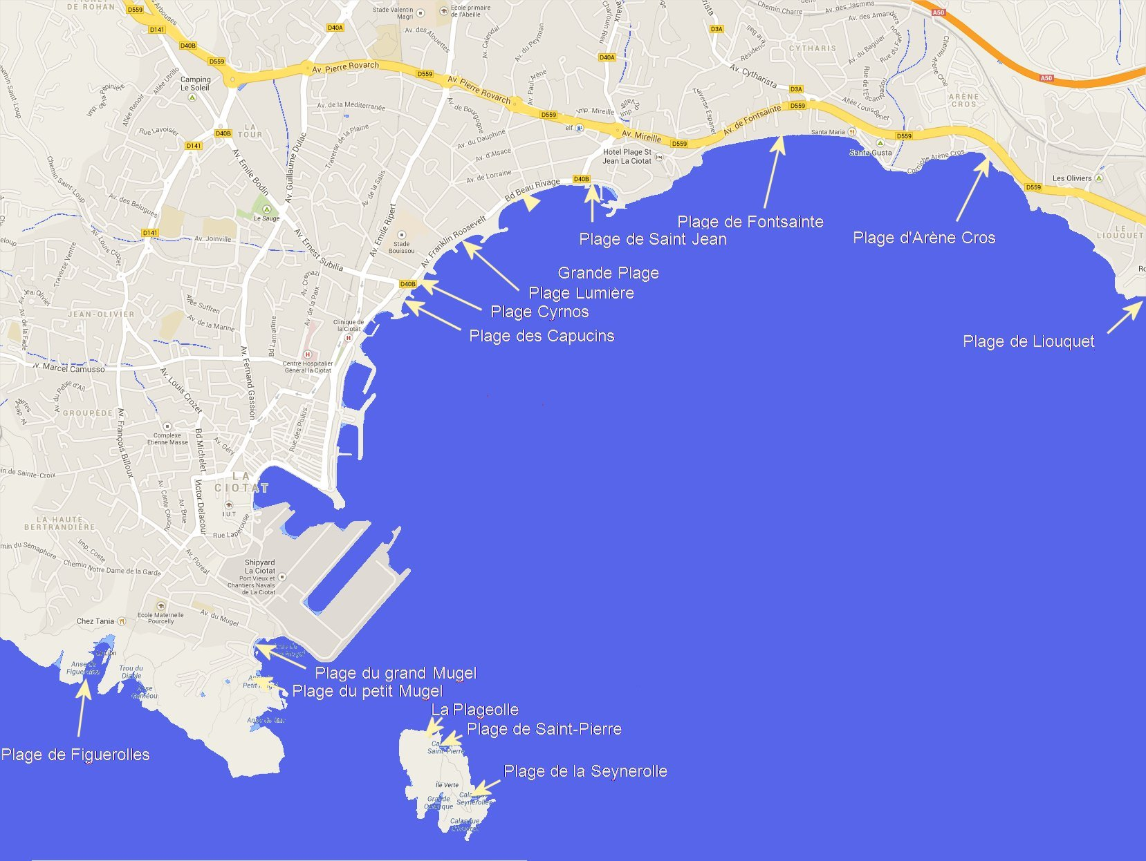 Beaches in La Ciotat Travel and Tourism in Provence
