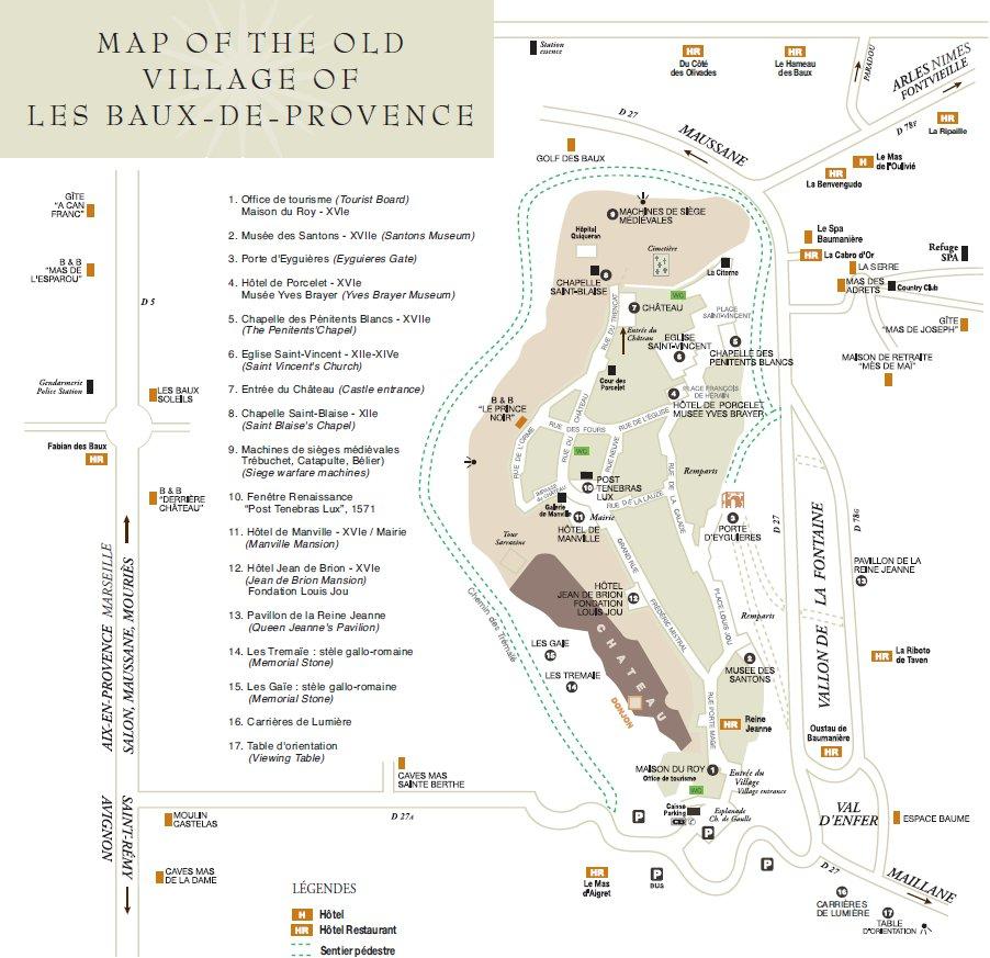 Карта ле Бо де Прованс